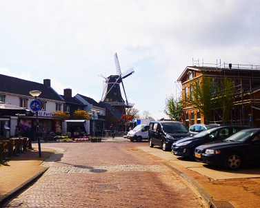 Winsum centre with one of the two old windmills